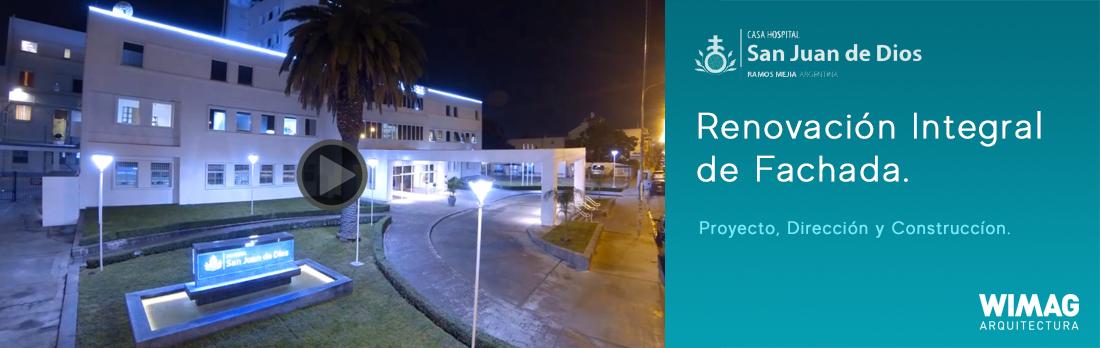 Proyecto, Dirección y Construcción del acceso y renovación fachada del Hospital San Juan de Dios